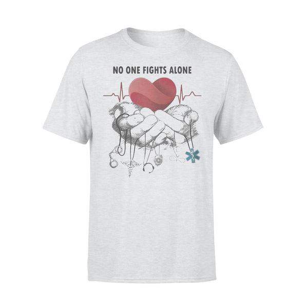 No One Fights Alone Jobs Heartbeat T-shirt XL By AllezyShirt