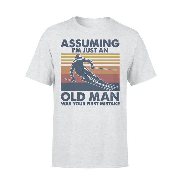 Skiing Assuming I'm Just An Old Man Was Your First Mistake Vintage T-shirt XL By AllezyShirt
