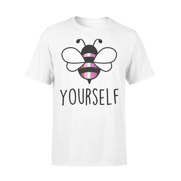 Bee YourSelf Lesbian Bee Gay Pride LGBT Rainbow T-shirt L By AllezyShirt