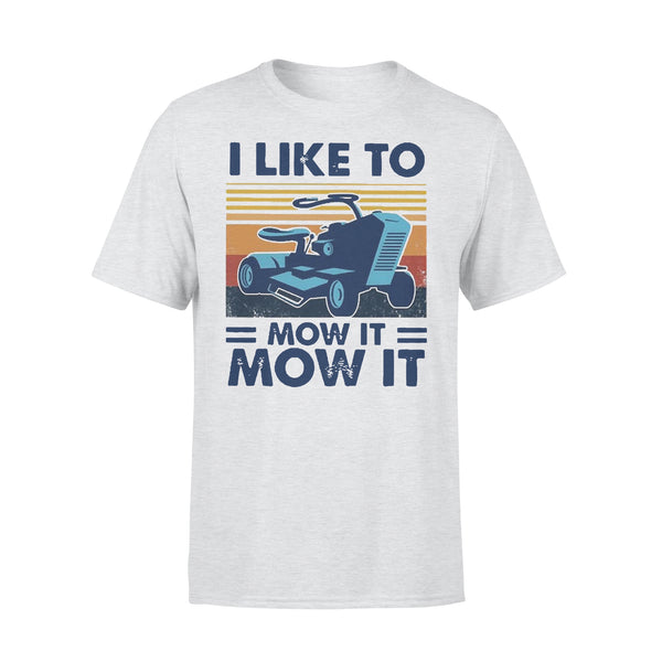 I Love To Mow It Mow It Mowing Machine Mower Vintage T-shirt XL By AllezyShirt