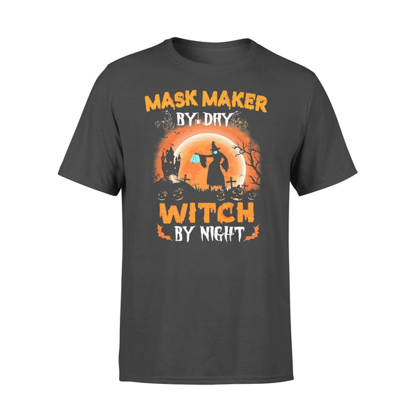Maks Maker By Day Witch By Night Halloween Blood Moon T-shirt L By AllezyShirt