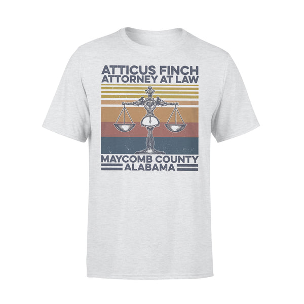 Atticus Finch Attorney At Law Maycomb County Alabama Vintage Retro T-shirt XL By AllezyShirt