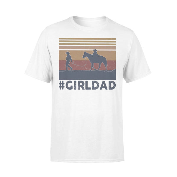 Dad And Daughter Horse Girl Dad Vintage T-shirt L By AllezyShirt