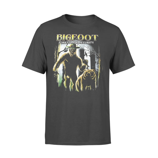 Bigfoot Forestland Security Graphic T-shirt L By AllezyShirt