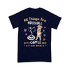 All Things Are Possible With Coffee And A Cat Maid T-shirt XL By AllezyShirt