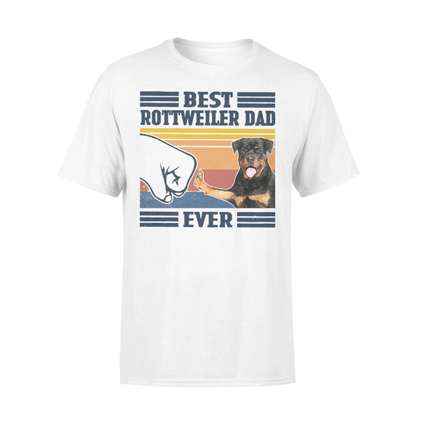 Best Rottweiler Dad Ever Vintage Father's Day T-shirt L By AllezyShirt