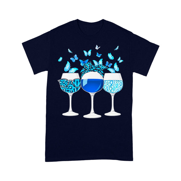 Blue Wine Butterfly T-shirt XL By AllezyShirt