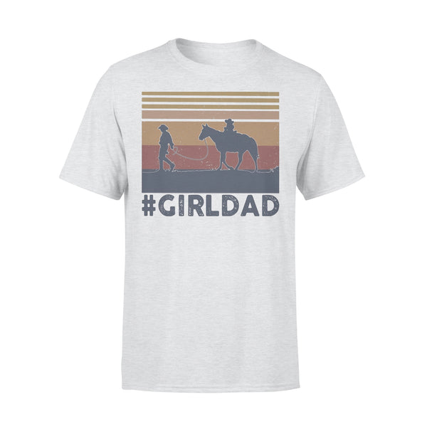 Dad And Daughter Horse Girl Dad Vintage T-shirt XL By AllezyShirt
