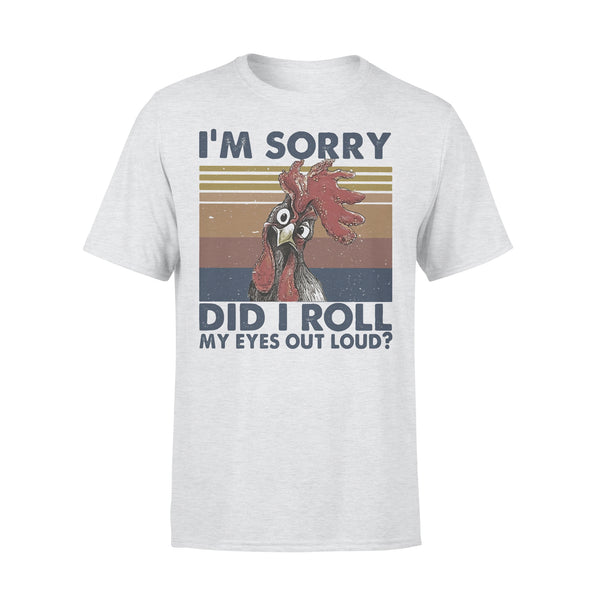 Chicken I'm Sorry Did I Roll My Eyes Out Loud Farmer Vintage T-shirt XL By AllezyShirt