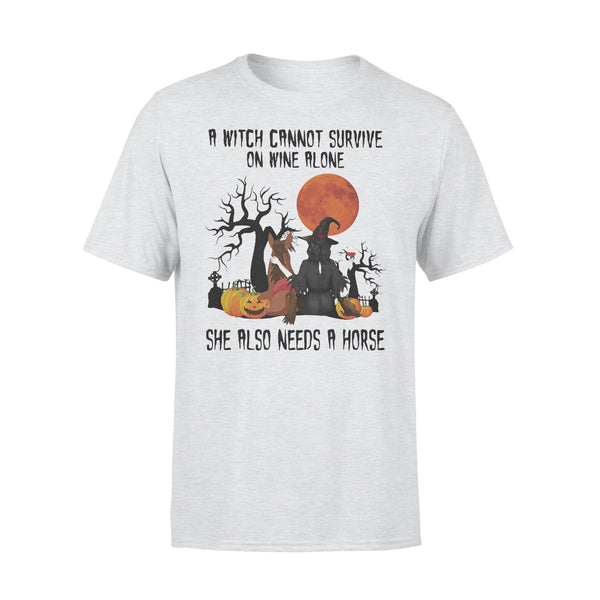 A Witch Cannot Survive On Wine Alone Sje Also Needs A Horse Blood Moon T-shirt XL By AllezyShirt