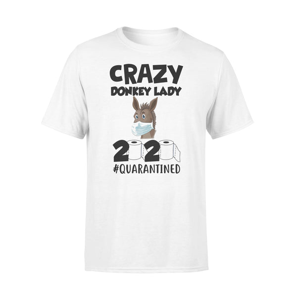 Crazy Donkey Lady 2020 Quarantined T-shirt L By AllezyShirt