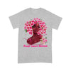 Black Girl Pink Flower Warrior Breast Cancer Awareness T-shirt XL By AllezyShirt