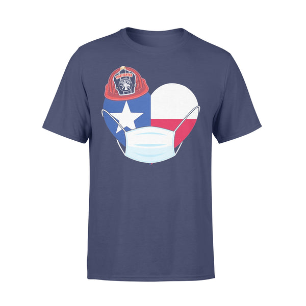Firefighter Flag Of Texas Covid-19 2020 T-shirt XL By AllezyShirt
