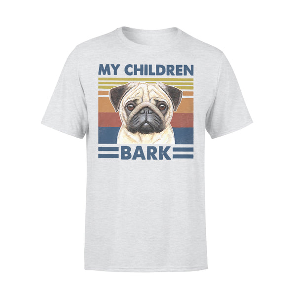 My Children Bark Pug Vintage Father's Day T-shirt XL By AllezyShirt
