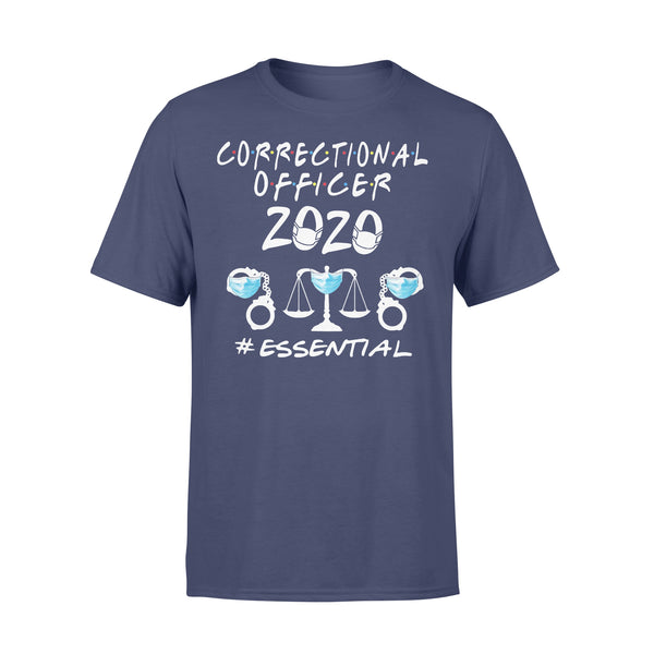 Correctional Officer 2020 Essential Covid-19 T-Shirt XL By AllezyShirt