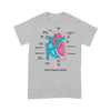 The Human Heart Anatomy Cardiologist T-shirt XL By AllezyShirt