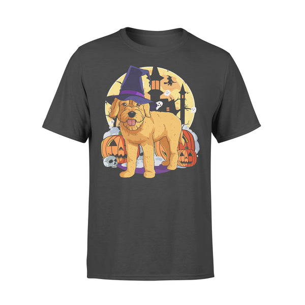 Halloween Goldendoodle Pumpkin Witch T-shirt L By AllezyShirt