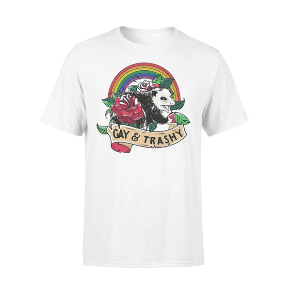 Lgbt Opossum Gay And Trashy Shirt L By AllezyShirt