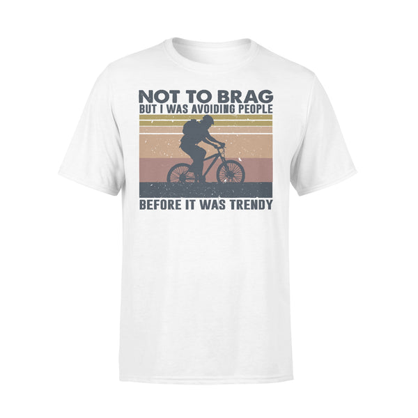 Bicycle Not To Brag But I Was Avoiding People Before It Was Trendy Vintage T-shirt L By AllezyShirt