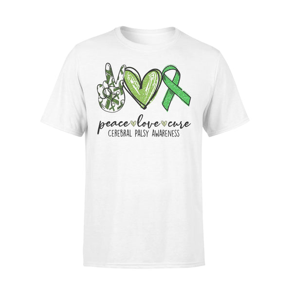 Peace Love Cure Cerebral Palsy Awareness Shirt L By AllezyShirt