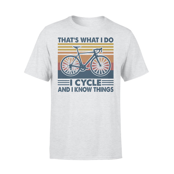 Bicycle That's What I Do I Cycle And I Know Things Vintage Retro T-shirt XL By AllezyShirt