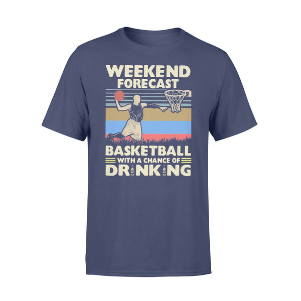 Weekend Forecast Basketball With A Chance Of Drinking Beer Vintage T-shirt XL By AllezyShirt