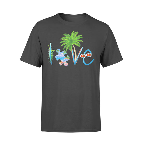 Official Autism Love Beach T-shirt L By AllezyShirt