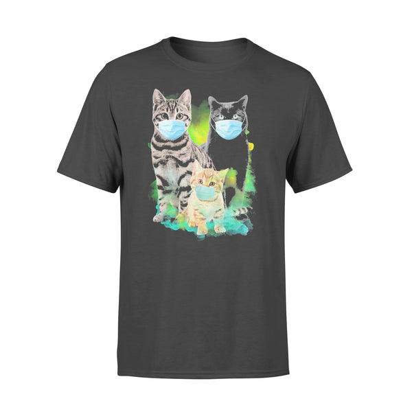 Cats Wear Medical Mask Covid-19 Shirt L By AllezyShirt