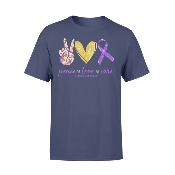 Peace Love Cure Lupus Awareness Shirt XL By AllezyShirt
