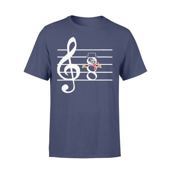 Snowman Musician Music Teachers Christmas T-shirt XL By AllezyShirt