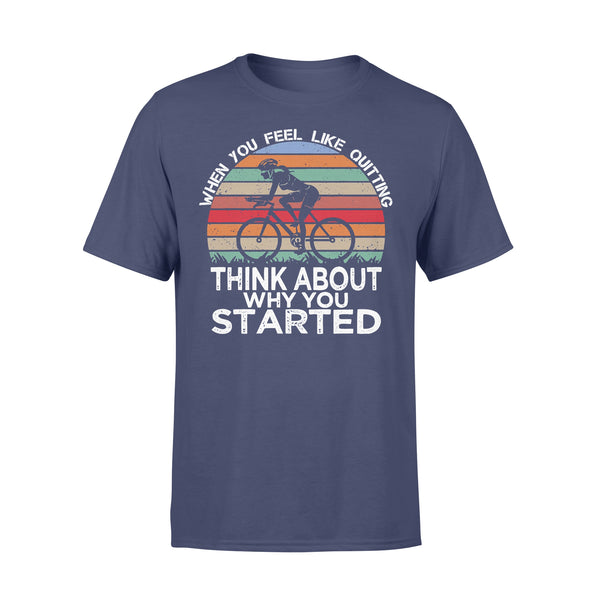 Bicycle When You Feel Like Think About Why You Started Vintage T-shirt XL By AllezyShirt