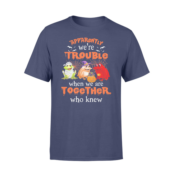 Frog Halloween Apparently We're Trouble When We Are Together T-shirt XL By AllezyShirt