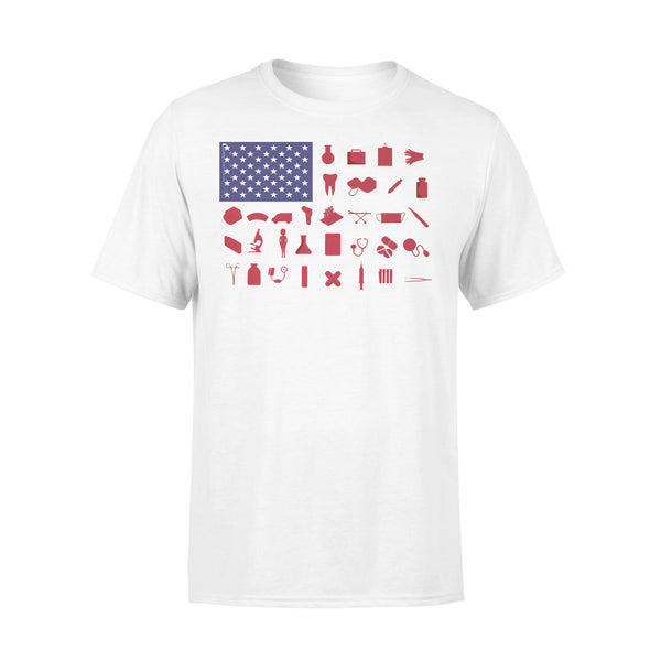 Nurse Independence Day American Flag T-shirt L By AllezyShirt