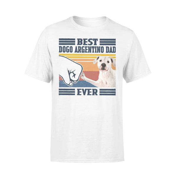 Father's Day Best Dogo Argentino Dad Ever Vintage T-shirt L By AllezyShirt