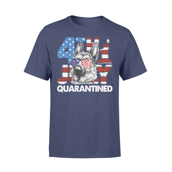 German Shepherd 4Th Of July Merica Quarantined Gifts Funny T-shirt XL By AllezyShirt