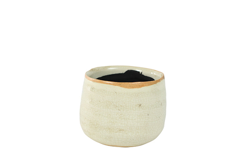 Glazed Ceramic Pot in White