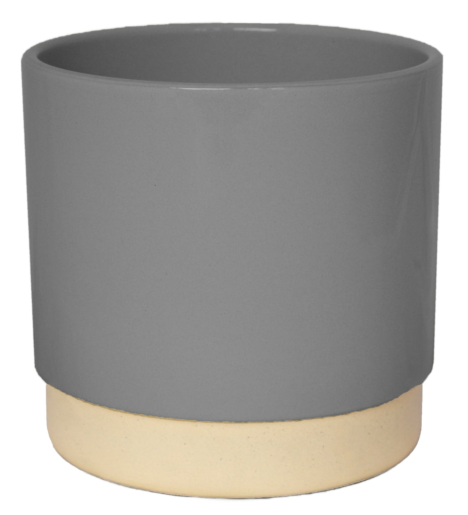 Ceramic Planter with Contrasting Base
