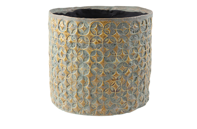 Embossed Plant Pot - 2 colors