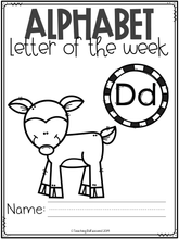 Load image into Gallery viewer, Alphabet Letter of the Week D