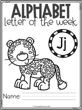 Load image into Gallery viewer, Alphabet Letter of the Week J