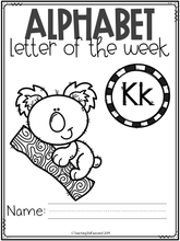 Load image into Gallery viewer, Alphabet Letter of the Week K