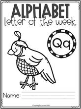 Load image into Gallery viewer, Alphabet Letter of the Week Q