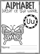 Load image into Gallery viewer, Alphabet Letter of the Week U