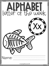Load image into Gallery viewer, Alphabet Letter of the Week X