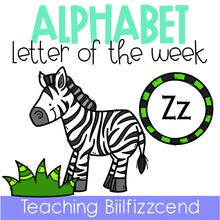 Load image into Gallery viewer, Alphabet Letter of the Week Z