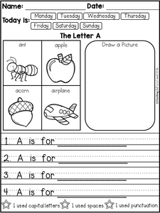 Alphabet Writing Prompts