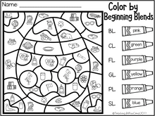 Load image into Gallery viewer, April Kindergarten Color by Code