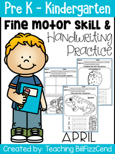 April Fine Motor Skills and Handwriting Practice