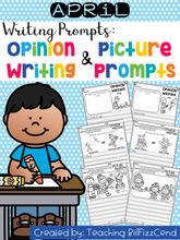 Load image into Gallery viewer, April Writing Prompts : Opinion Writing & Picture Prompts