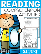 Load image into Gallery viewer, August Reading Comprehension Activities